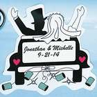 "Personalized ""Just Married"" Car Magnet"