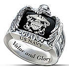Sterling Silver U.S. Navy Ring