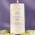 Crystals and Lace Memorial Candle