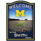 Personalized University of Michigan Wolverines Welcome Sign