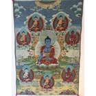 Eight Medicine Buddhas Art Tapestry