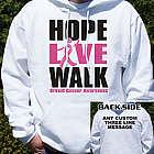 Personalized Breast Cancer Walk Hooded Sweatshirt