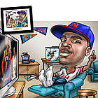 Sports Fanatic Custom Caricature