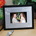 Black And Silver Picture Frame for the Father of the Bride