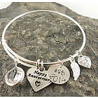 Happy Anniversary Personalized Hand Stamped Bracelet