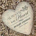 Personalized Memorial Heart Garden Stone