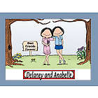 Personalized Friends/Sisters Cartoon Matted Print