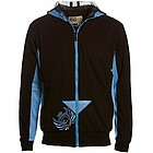 Muckrunner Black Full Zip Fitted Hoodie