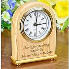 Personalized Arch Shaped Desk Clock