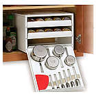 18-Bottle Cabinet Organizer with Pro Measuring Tools