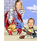 Dragon Slayer Caricature from Photos