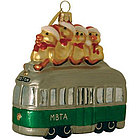 All Aboard for Christmas! Boston MBTA Green Line Trolley Ornament