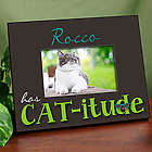 Personalized Cat-itude Printed Frame