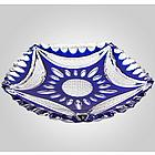 Cased Bohemian Crystal Plate