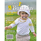 1st Birthday Personalized Magazine Cover