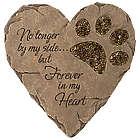 Paw Print Pet Memorial Garden Stone