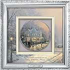 Thomas Kinkade Warm Winter Wishes Personalized Shadowbox Plate
