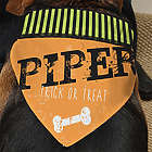 Happy Howl-Oween Personalized Dog Bandana