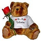 Valentine's Teddy Bear with JustWoodRose