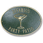 Personalized Metal Deck Plaque-Martini