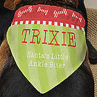 Santa's Helper Personalized Dog Bandana