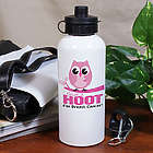Give a Hoot Breast Cancer Awareness Water Bottle