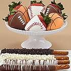 Caramel Pretzels and Half Dozen Sports Chocolate Strawberries