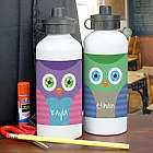 Personalized Owl Water Bottle