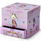 Pink Fairy and Spinning Ballerina Musical Jewelry Box