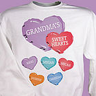 Candy Hearts Personalized Sweatshirt