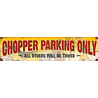 Chopper Parking Metal Sign