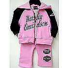 Harley-Davidson Pink Fleece Pant Set