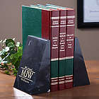 Executive Monogram Marble Bookends