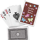 Personalized All Aflutter Playing Cards