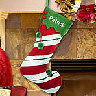 Personalized Candy Cane Wool Jester Christmas Stocking