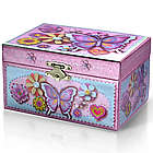 Butterfly and Flowers Spinning Ballerina Musical Jewelry Box