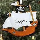 Personalized Pirate Ship Ornament