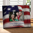 Personalized American Flag Patriotic Picture Frame