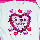Personalized Heart Wreath Sweatshirt