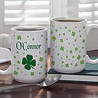 Irish Clover Personalized Coffee Mug