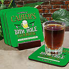 19th Hole Golf Personalized Coaster Set