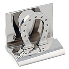 Silver Horseshoe Business Card Holder