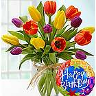Birthday Tulip Bouquet with Balloon