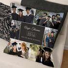 Graduation Photo Collage Throw Pillow