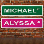Personalized Street Wall Sign