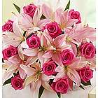 Mother's Day Magnificent Pink Rose and Lily Bouquet