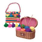 Beginners Yarn Craft Kit with Wicker Basket