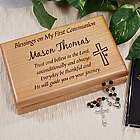 Engraved First Communion Valet Box