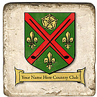 Personalized Country Club Coasters