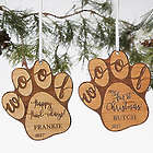 Personalized Happy Howl-idays Dog Ornament